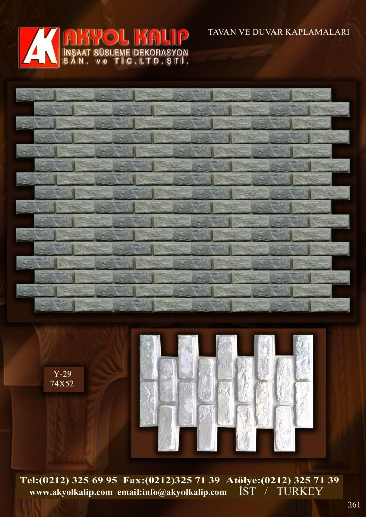 tavan ve duvar kaplama kalıpları