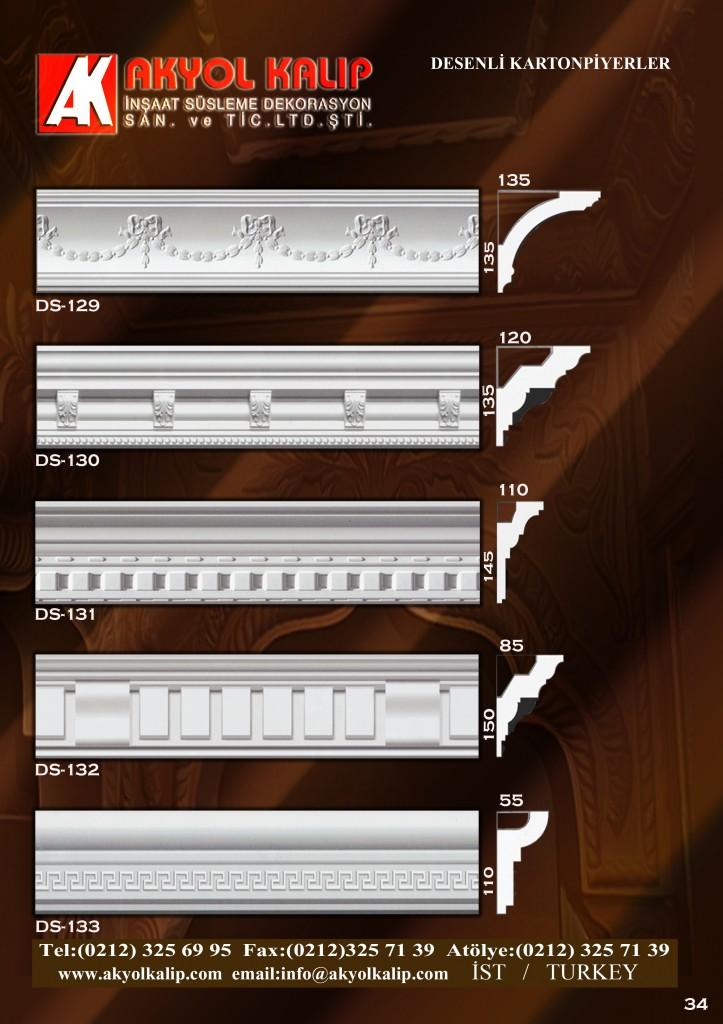 desenli kartonpiyerler, desenli kartonpiyer, desenli, kartonpiyer,, alçı, kalıp, slikonlu, polyester,