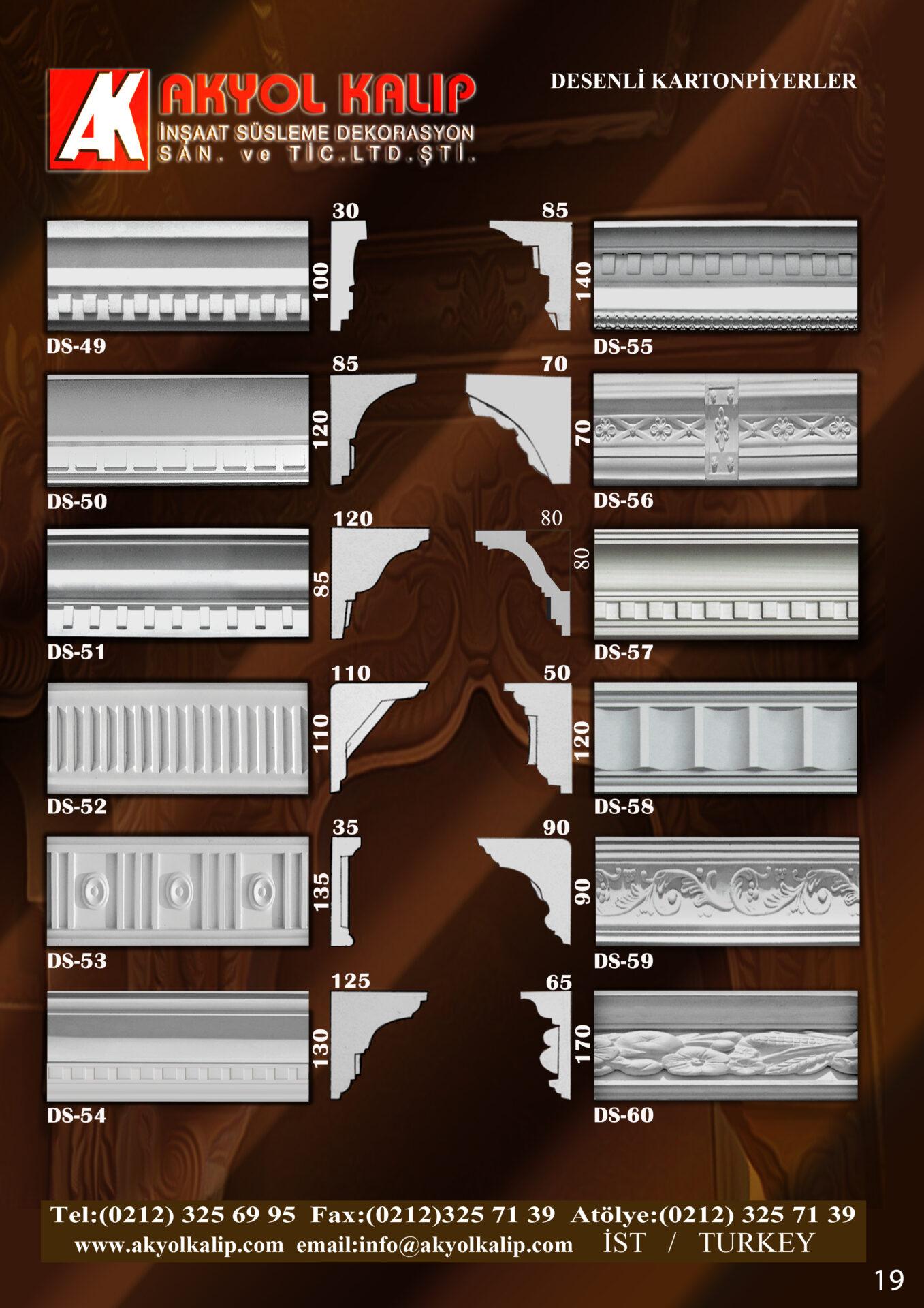 desenli kartonpiyerler