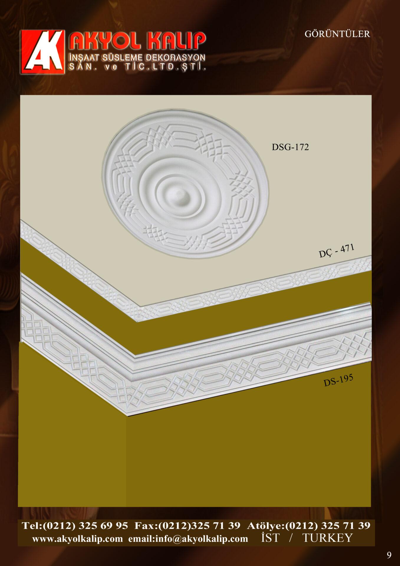 polyester kalıp alçı beton silikon kartonpiyer